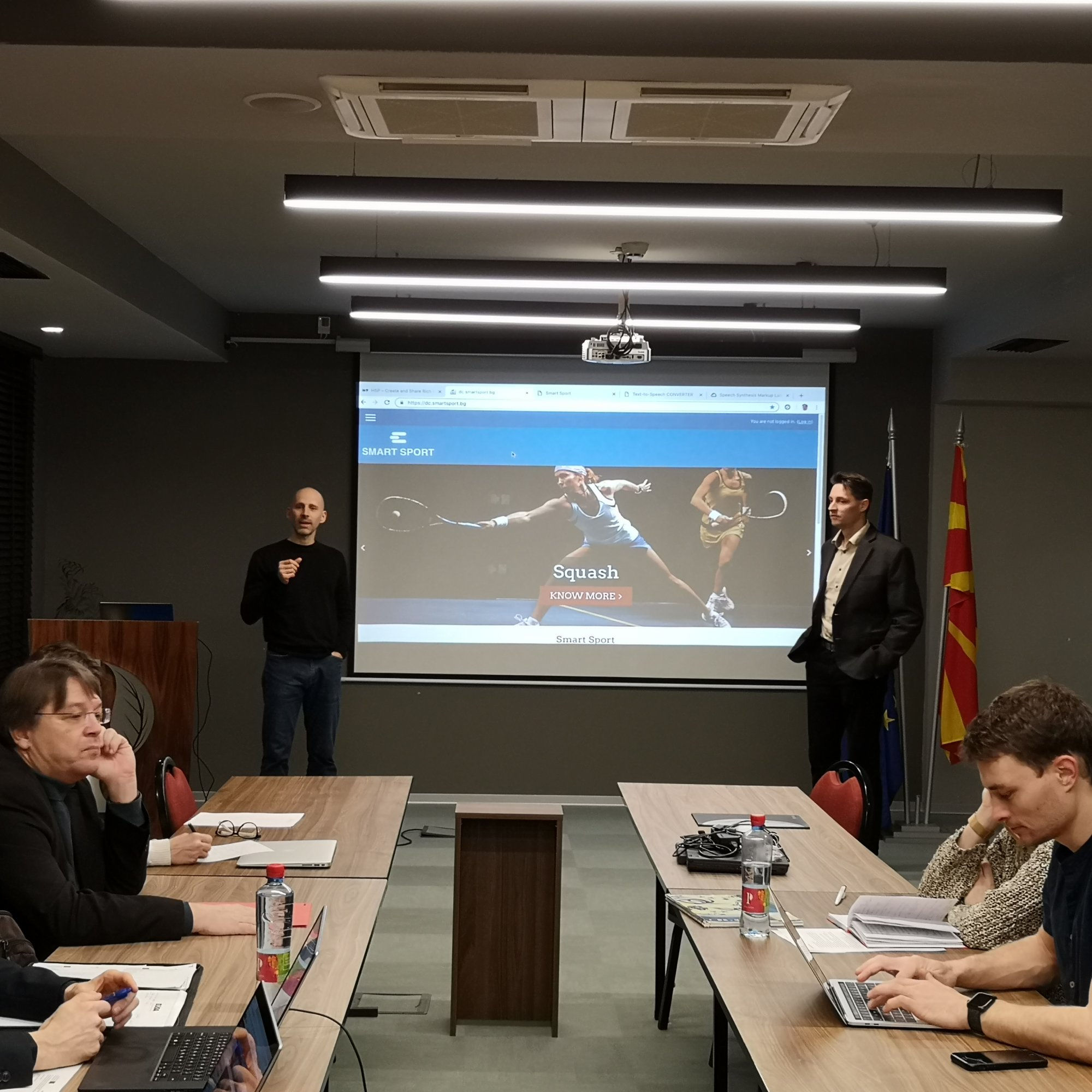 Smart sport meeting in Skopje