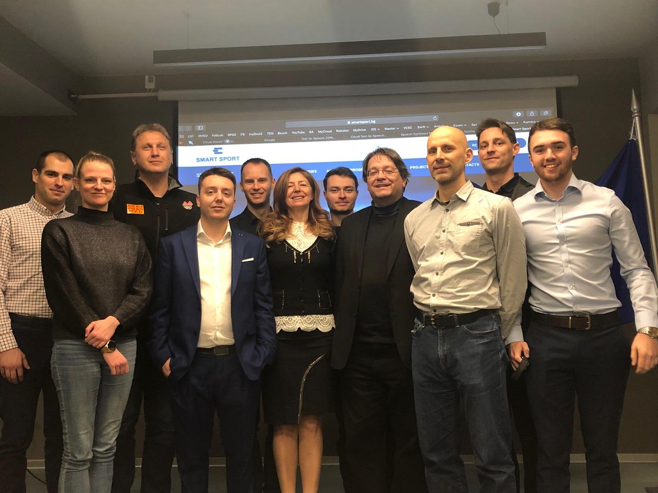 Smart sport partners representatives at the Skopje meeting